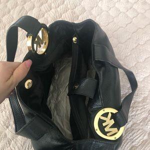 MK Black Pebble Leather Purse